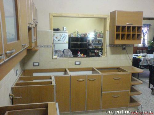 Fotos de muebles de cocina en melamina en pilar for Muebles cocina melamina