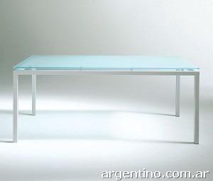 F brica mesa escritorio ca o 3x3 tapa vidrio 10mm en for Fabrica de escritorios de oficina