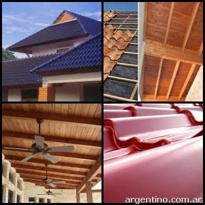 Fotos de techos todo tipo loza tejas chapa membrana for Tejas livianas para techos