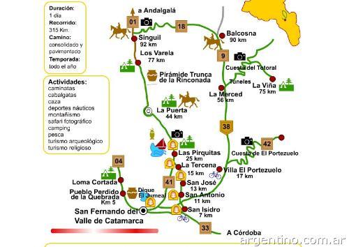 Circuito Norte Argentino En Auto : San fernando del valle de catamarca