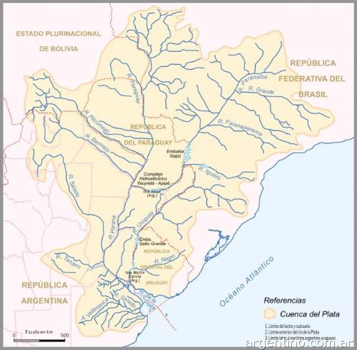 Cuenca del Plata. Hidrografía República Argentina